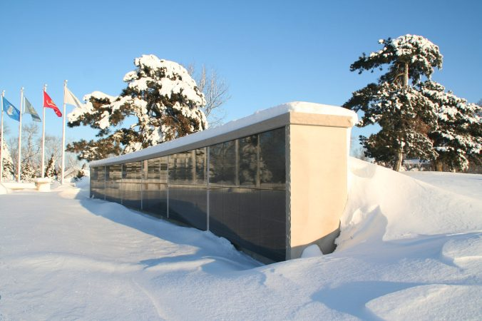 The Columbarium Niche Wall in Winter