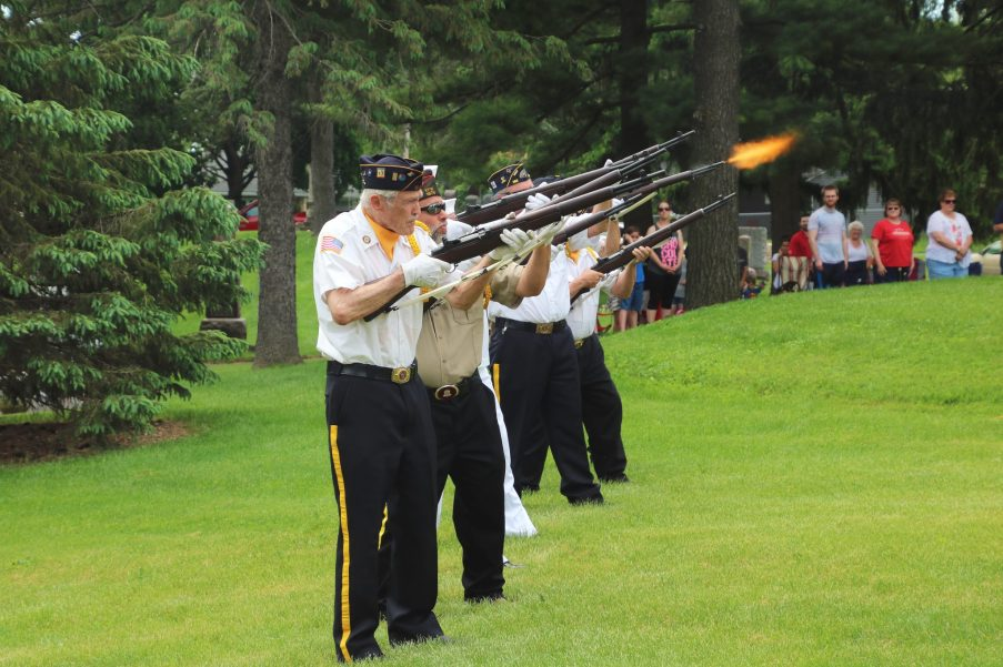 Military Salute on Memorial Day