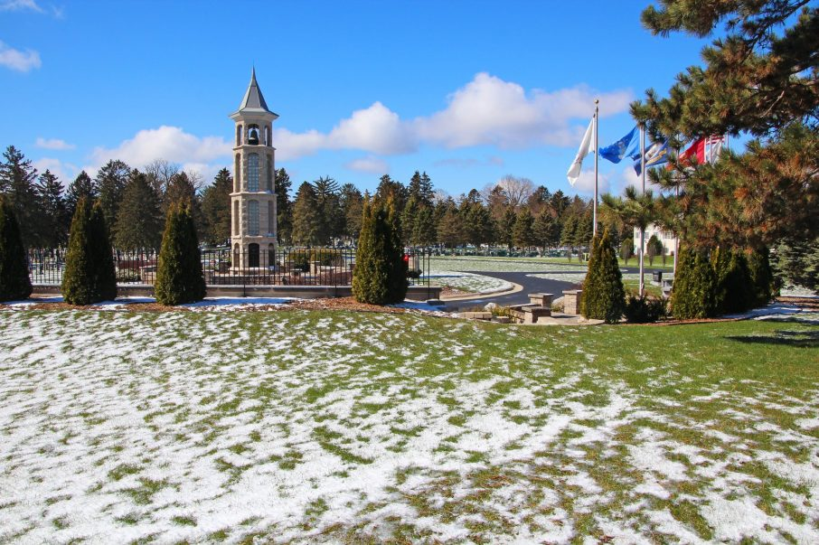 Carillon Bell Tower with snow