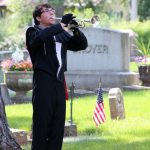 Bugler playing taps on Memorial Day