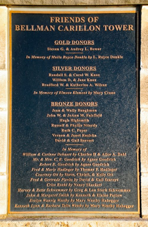 Donor Plaque close up