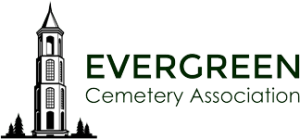logo for the Evergreen Cemetery Association