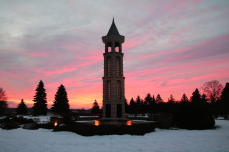 Bellman Carillon Tower at Sunrise