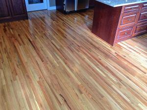 Oak hardwood floor refinish