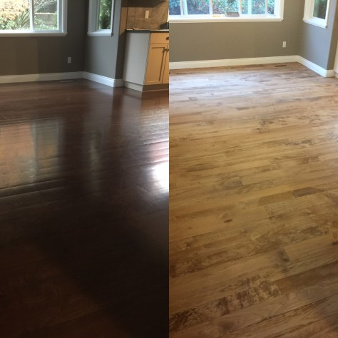 Before&After maple hardwood floor