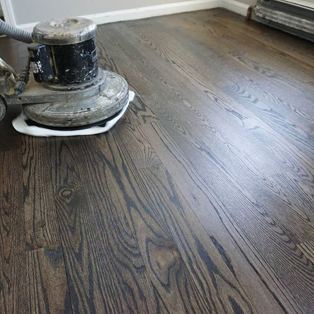 Hardwood floor refinish