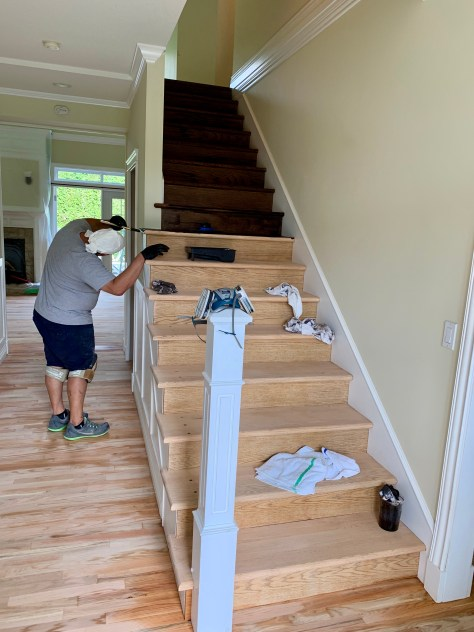 Oak hardwood staircase