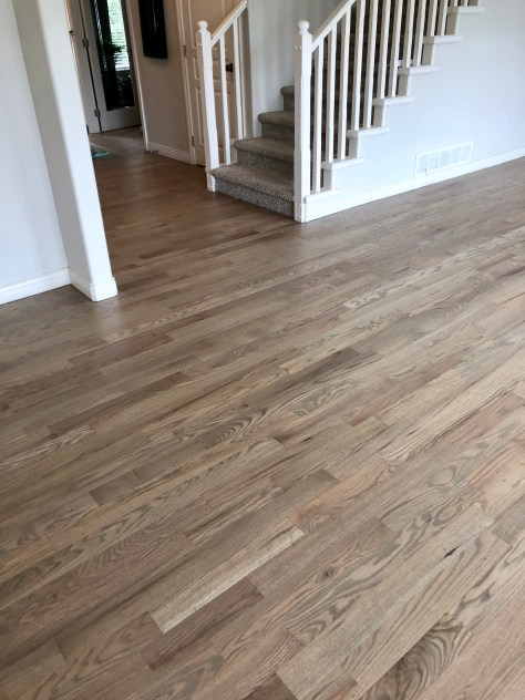 oak hardwood floor refinished