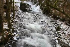 Frozen creek bed