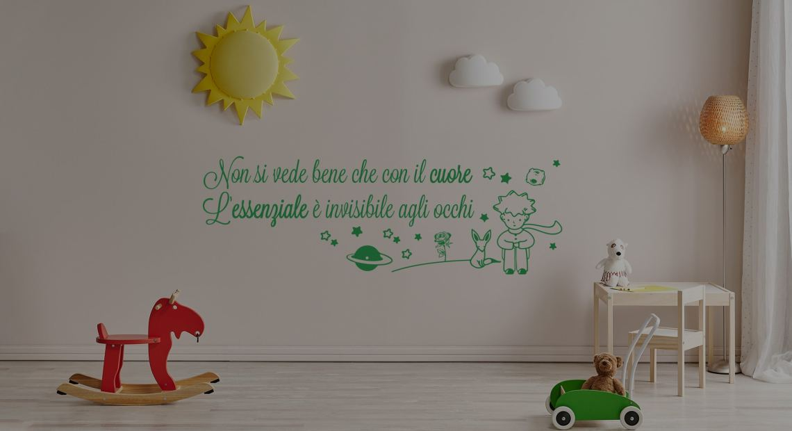 adesivi murali camerette bambini