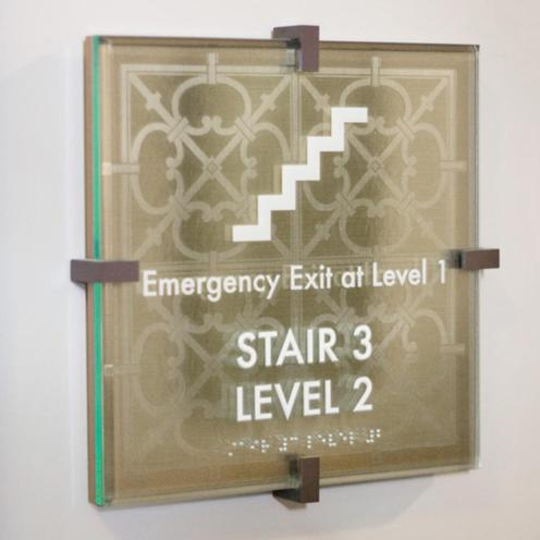 A variety of substrates and designs can be used for ADA Code Signs.