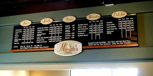 Menu Boards should reflect the brand of your retail business while maintaining readability and flexibility for updates when needed.