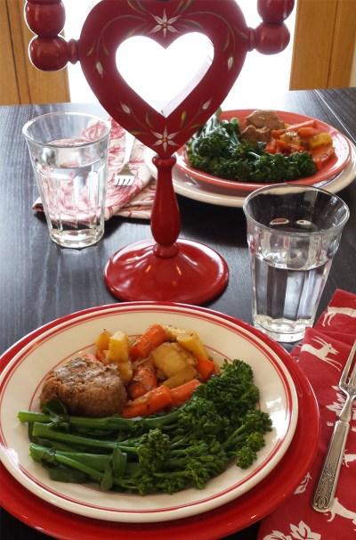 Valentine-dinner-beef-carrots-parsnips-broccolini