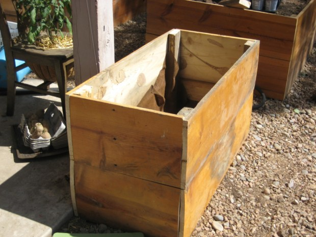 how to build a raised bed using reclaimed lumber