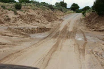 Life Unfiltered - The arroyo that crosses the only road in and out