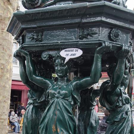 Cast iron water fountains, Paris
