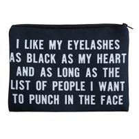 I Like My Lashes---Cosmetic Bag
