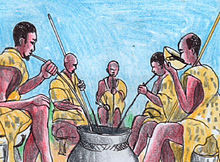 Depictions of traditional Bakiga lifestyle