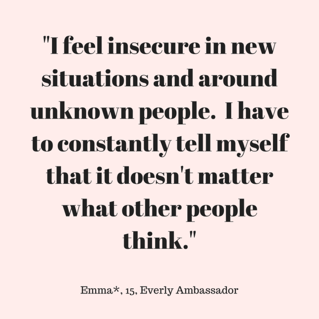 _I feel insecure in new situations and around unknown people. I have to constantly tell myself that it doesn't matter what other people think._