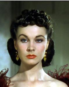 Scarlett O'Hara beautiful woman black hair 1930s film