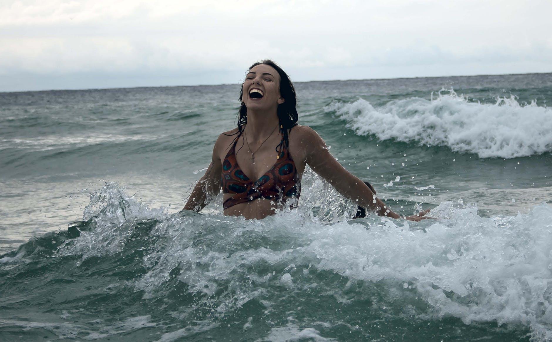 sea vacation bikini woman
