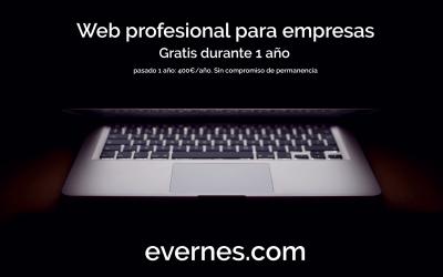 Web profesional para empresas. Gratis durante 1 año.