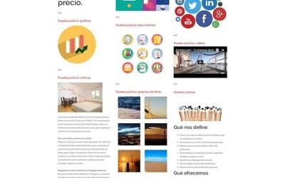 Su empresa puede tener una página web como esta… moderna y conectada con el mundo.