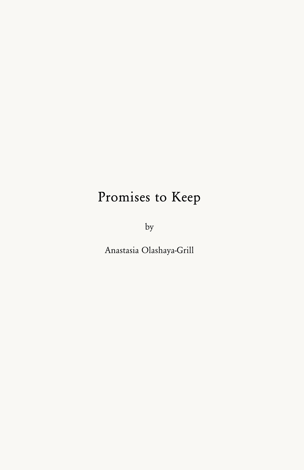Promises to Keep 0