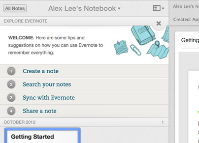 Explore Evernote