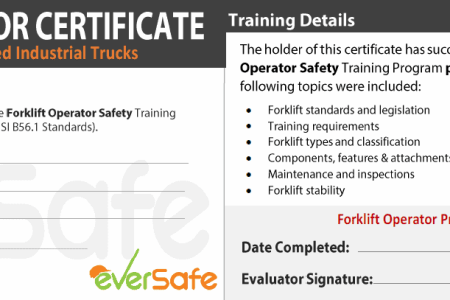 Free Certificate Templates » forklift certification california ...