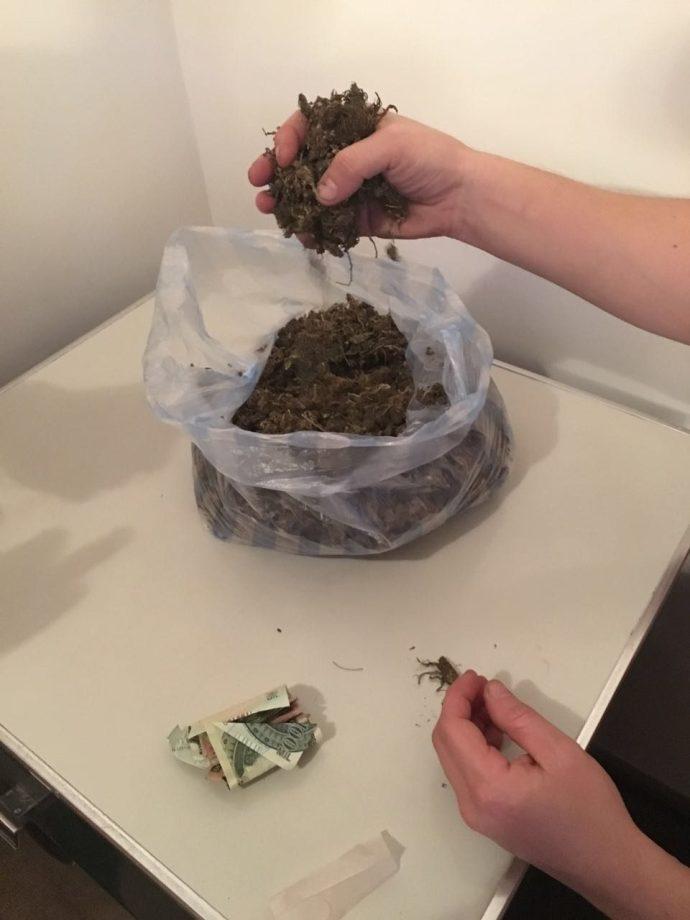 a bag of marihuana