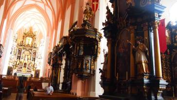 The Aisle of the Church in Mondsee, where they filmed the wedding scene for The Sound of Music