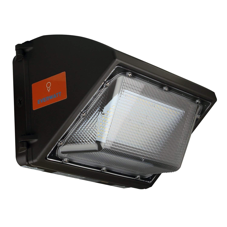 ul dlc 80w led outdoor wall pack light 5000k cool white 10000 lumens 500 watt equivalency waterproof easy mount