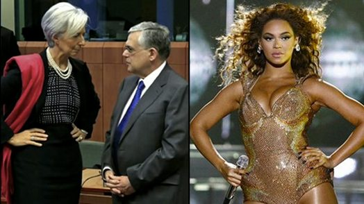 Image: Politician and Beonce in power pose