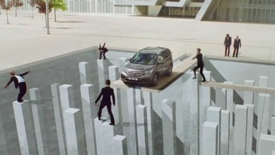 Image: Chalk Illusion of car on the edge