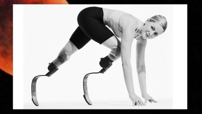 Image: Amiee Mullens on her Spade Legs