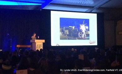 Image: Louisa speaking at EF