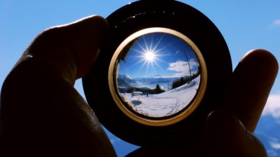 Image: looking through a lens
