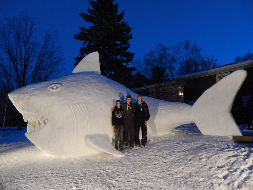 Image: Shark snow sculpture 3