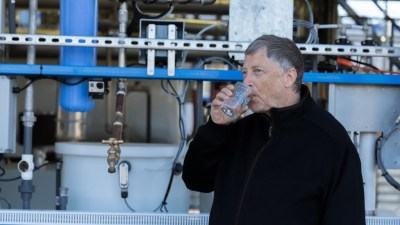 Image: Bill Gates drinking from the omniprocessor