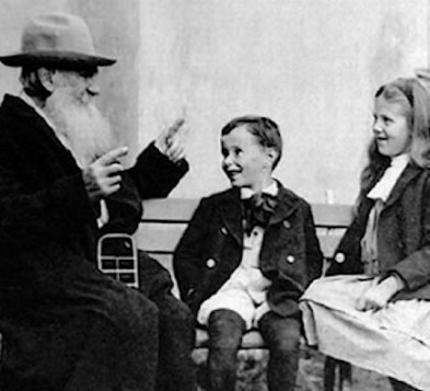 Image: Tolstoy and some children