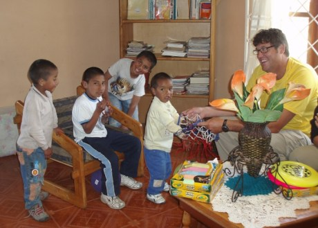Image: Dr. Chuck with Quito Orphanage