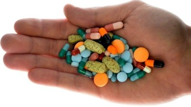 Image: handful of antibiotics