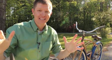 Image: Destin Sandlin explaining the backwards bike