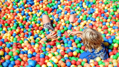 Image: Boy playing in a ball pit