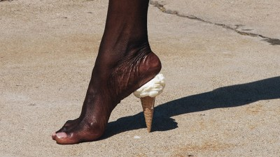 Image: Ice Cream Cone as a heal for a woman's shoe