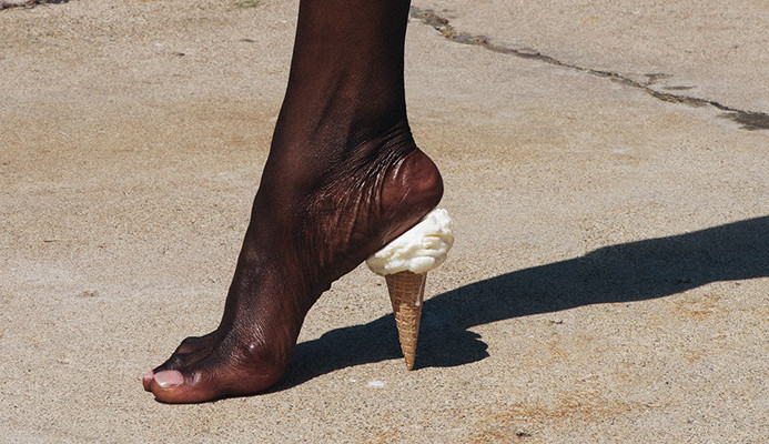 Image: Ice Cream Cone as a heal for a woman's shoe, Brock Davis Photography