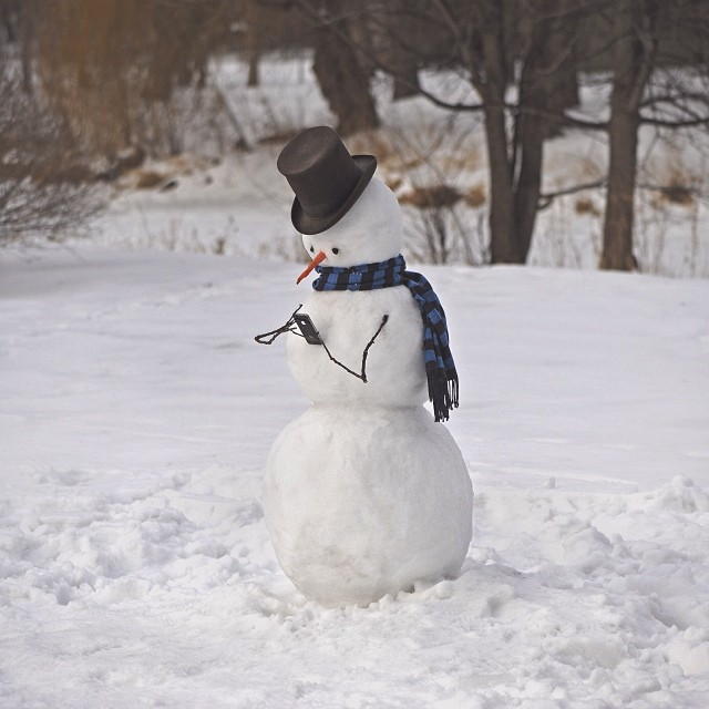 Image: Snowman with cell phone, Brock Davis Photography
