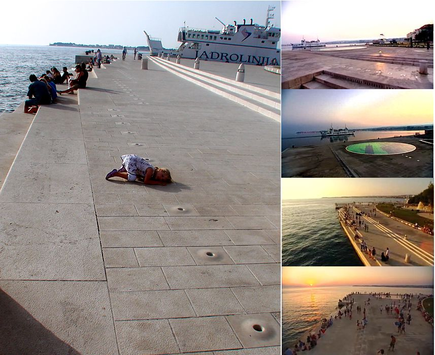 Image: Collage of Sea Organ Installation