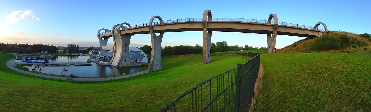 Image: Approaching the Falkirk Wheel from the hill